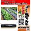 マルチシート 黒 穴あき 厚さ0.02mm 巾95cm×長さ50m 野菜栽培では欠かせない菜園用のマルチシート