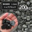 砂利 黒 砕石砂利 1-2cm 200kg トッ...