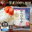新米 お米  アイリスの生鮮米 無洗米 北海道産 ゆめぴりか 2合パック 300g アイリスオーヤマ 米 ご飯 うるち米 精白米(あすつく)