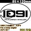 1091(イレグイ)メダマ ステッカー 85×120mm