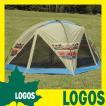 テント ロゴス LOGOS ナバホ ラウンドタープ ドーム型 大型タープ スクリーンタープ ロースタイル UVカット キャリーバッグ付き キャンプ アウトドア 撥水