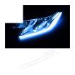 LED デイライト テープライト ラインテープ シリコンチューブライト 防水 60cm 2本セット アイライン ヘッドライト ポジションランプ カスタムパーツ(売れ筋)