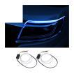 流れるウインカー LEDテープ シーケンシャルウインカー テープライト シリコン 滑らか 防水 60cm 2本セット デイライト アイライン キット 12V(売れ筋)
