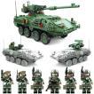 互換 レゴ lego ミニフィグ6体付き 3in1 M1128 ストライカーMGS 装甲車 おもちゃ1:21 ブロック