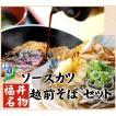越前 そば 3食 & ソースカツ 9枚 セット 送料無料 ( 生そば 蕎麦 冷凍 おろし 無し ) セール お中元 食べ物