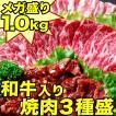 メガ盛1kg!バーベキュー肉3種盛セット