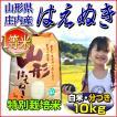 29年産 はえぬき 当日精米 山形県庄内産 一等米 白米10kg (5kg×2袋) 特別栽培米 送料無料