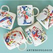 ANTHROPOLOGIE アンソロポロジー イニシャルマグ マグカップ Petal Palette Monogram Mug