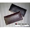 財布 メンズ 長財布 HIDEO WAKAMATSU コードバンメッシュ編み込み財布'ピュルサ' ロングウォレット ブラック 男性用