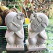 アジアン雑貨 バリ オブジェ 置物 石像 2個組 パラス石 エスニック z201103a