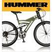 ハマー マウンテンバイク MTB 26インチ アルミフレーム Wサス HUMMER DH2618-E シマノ18段変速