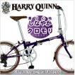 折りたたみ自転車 20インチ 自転車 折り畳み クロモリ シマノ7段変速 ハリークイン HARRY QUINN Grapes Cr-Mo FDB207
