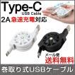 巻取り式 Type-C タイプC 充電ケーブル ポイント消化