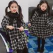 韓国子供服 女の子 通販 ワンピース 長袖 チェック おしゃれ キッズ 可愛い 子ども服 お出かけ 30代 40代 ママ 女性 レディース