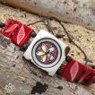 LTWLN-PluBatik Lani タグア 腕時計 プルメリア ろうけつ染め Lani Tagua Watch Plumeria Batik