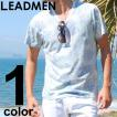 Tシャツ メンズ 花柄 半袖Tシャツ フラワープリント Vネックカットソー 総柄 ボタニカル