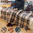 ライフジョイ 電気毛布 ひざ掛け 日本製 洗える ダニ退治 160cm×82cm 全4色 大判 スライド温度調節 ベージュ オレンジ レッド グリーン
