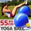 バランスボール 55cm 空気入れ付 ヨガボール エクササイズ ダイエット 送料無 XM406S