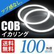 COB イカリング 100mm LED ホワイト/白 エンジェルアイ 拡散カバー付 2個セット 送料無料