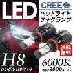 LEDヘッドライト/LEDフォグランプ H8 CREEチップ 6000K/3000LM /オールインワンキット