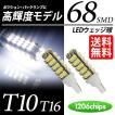 T10 / T16 LED ポジション / バックランプ ウェッジ球 68連 ホワイト / 白