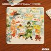 TOVE100コースター/peace(ピース)/ムーミングッズ/北欧雑貨