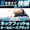 ストレートネック 枕 洗える パイプ 高さ調節 送料無料 43×63 ネックフィット枕 オールビーズ ブラック