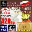 ポーランド産ホワイトマザーグースダウン93% 2層キルト 二層 ロイヤルゴールドラベル 日本製羽毛布団  極 スペシャル クイーン クィーン