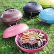 バーベキューコンロ ラウンドBBQ&スモークコンロ BBQコンロ ラウンド型 ( バーベキューグリル BBQ 燻製器 )