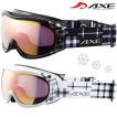 ゴーグル 曇り止め 機能付き 眼鏡対応 メガネ 16-17カタログモデル AXE アックス スキー スノボー スノーボード AX600