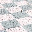 タイル シート DIY 10枚セット 石 庭 ガーデン 庭 ベ...