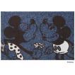 玄関マット ドアマット/ディズニー/ウォッシュ&ドライ/洗える/ミッキー&ミニー/60×90cm/日本製