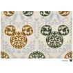 玄関マット ドアマット/ディズニー/ウォッシュ&ドライ/洗える/ミッキー ロココ調 グリーン/60×90cm/日本製
