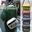 フィラ ショルダーバッグ 横型 FILA Remember リメンバー ショルダー メッシュポケット 斜め掛け バッグ ロゴプリント 7564