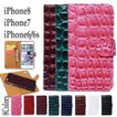 【メール便送料無料】iPhone7 iPhone6/6s iPhoneSE/5/5s 横開 手帳型 アイフォンケース クロコダイル ケースが取外せる2Way