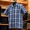 SONTAKU (ソンタク) スペック染 半袖オープンカラーシャツ ブルー