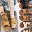 フラットサンダル レディース 靴 サンダル 歩きやすい夏の新スタイル ヒール ローヒール 美脚 靴 シューズ カップルスリッパ 滑り止め 2WAY