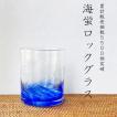 琉球ガラス 海蛍 ロックグラス 焼酎ロックグラス ギフト