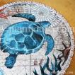 カメ グッズ ビーチタオル ラウンド 薄手 円形 敷物 オーシャン ラグマット 海亀