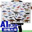 恐竜 グッズ アートポスター インテリア 特大 A1サイズ 図鑑タイプ 恐竜大全 ポスター