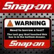 Snap-on スナップオン アメリカンステッカー WARNING 007 アメリカン雑貨