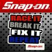 Snap-on スナップオン アメリカンステッカー RACE IT BREAK IT FIX IT REPEAT 016 アメリカン雑貨