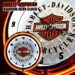 HARLEY-DAVIDSON ハーレーダビッドソン バー&シールドロゴ ダイヤモンドプレート ネオンクロック 掛け時計
