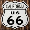 ブリキ看板 ROUTE66 US CALIFORNIA カリフォルニア州 標識型