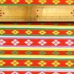 金襴(金らん):織り巾×30cm 『白地に、繧繝(うんげん)模様 赤』