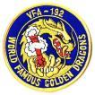 ワッペン ミリタリーパッチ VFA-192ゴールデンドラゴンズ