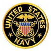 アメリカ軍 ミリタリー ワッペン 米海軍士官エンブレムM