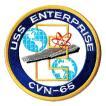 アメリカ軍 ミリタリー ワッペン 米海軍USS ENTERPRISE丸型