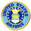 アメリカ空軍 ミリタリー ワッペン USAF エンブレム丸型