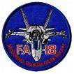 ワッペン ミリタリーパッチ F/A 18HORNET-Round